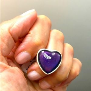HEART SHAPED STATEMENT MOOD RING